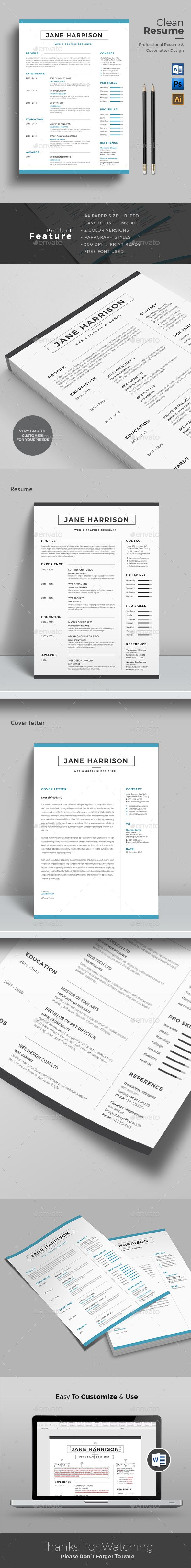 Resume | Template, Microsoft word and Modern resume template