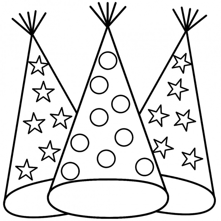Hat Coloring Pages Best Coloring Pages For Kids New Year Coloring Pages Happy Birthday Coloring Pages Birthday Coloring Pages