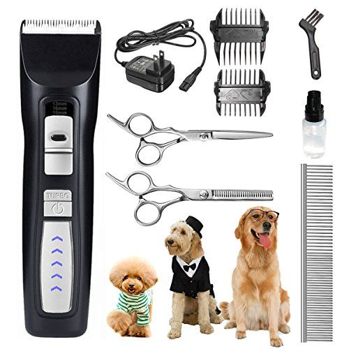Pet Grooming Clippers Set Focuspet 2 Speed Rechargeable Cordless