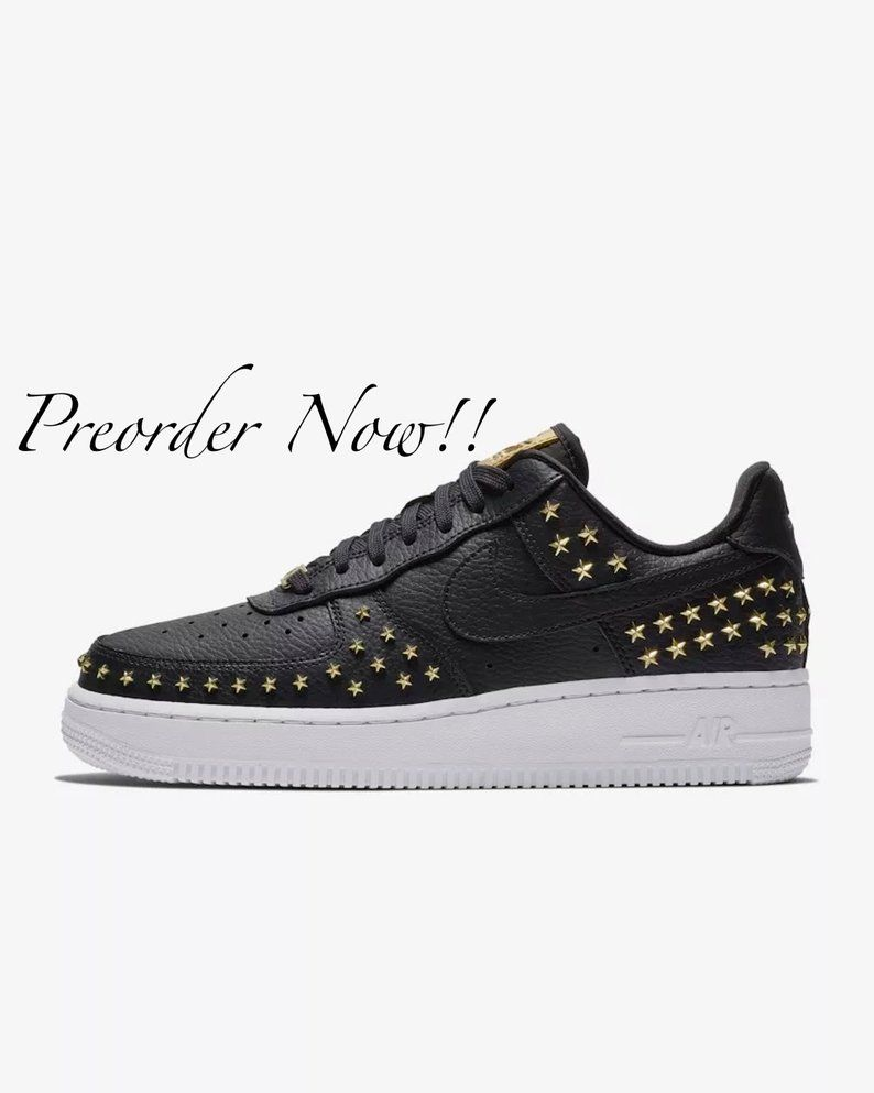 nike air Force 1 sort studded