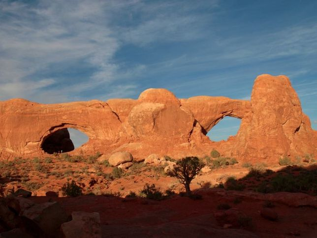 Twin arches - Utah     This phenomenon ISN'T caused by water, nor wind.  Such a cool reality!