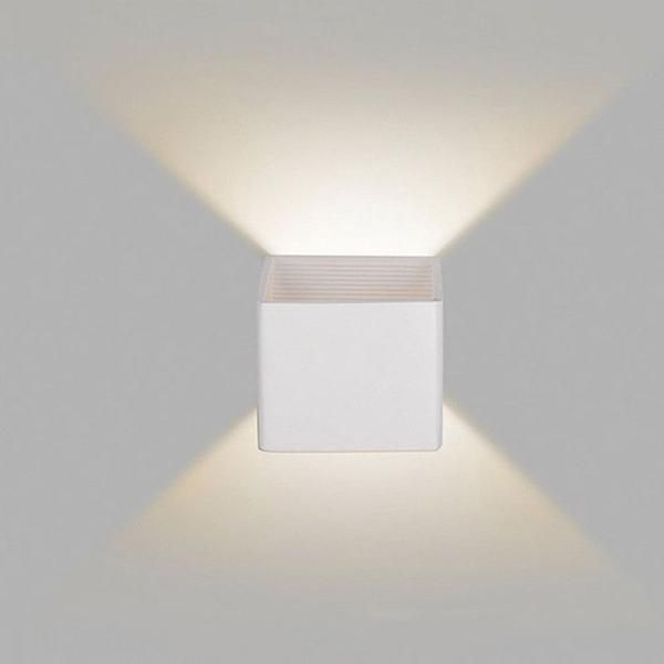 Wooden Modern Led Up Down Cube Wall Lamp En 2019 Couloir Couloir