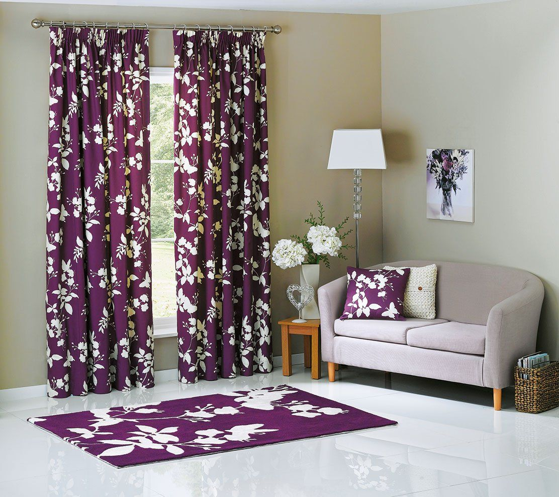The Rich Purple Colour Of These Curtains From Argos Will