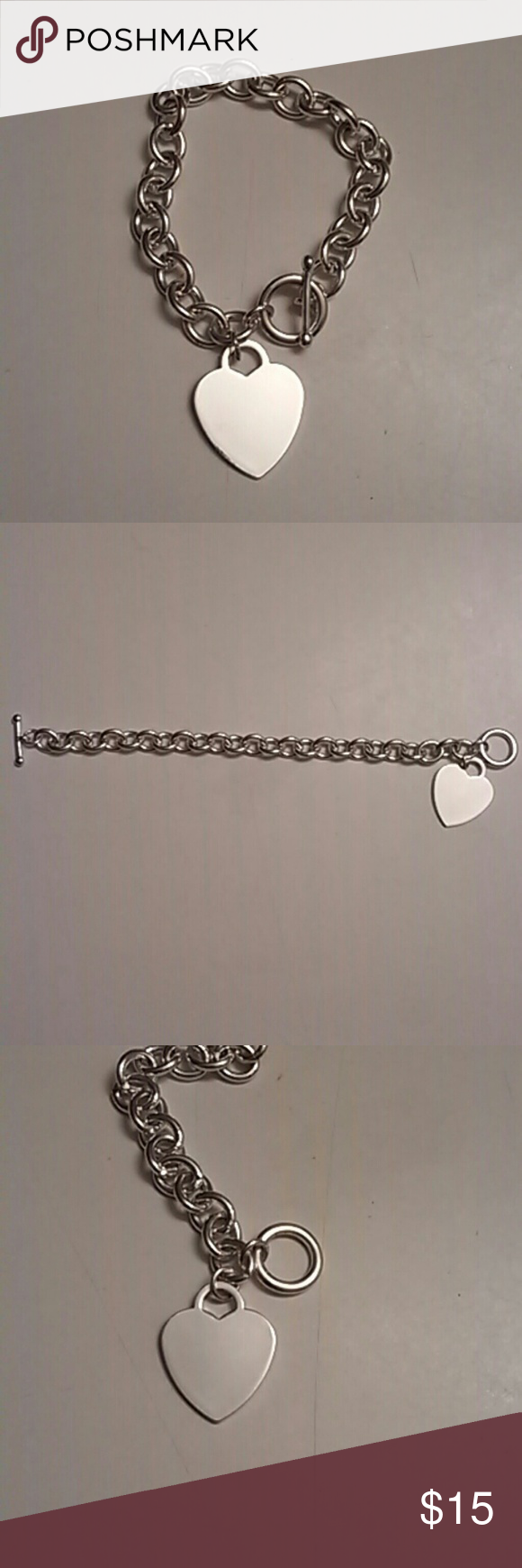 Silver heart charm bracelet silver heart charm bracelet simple and