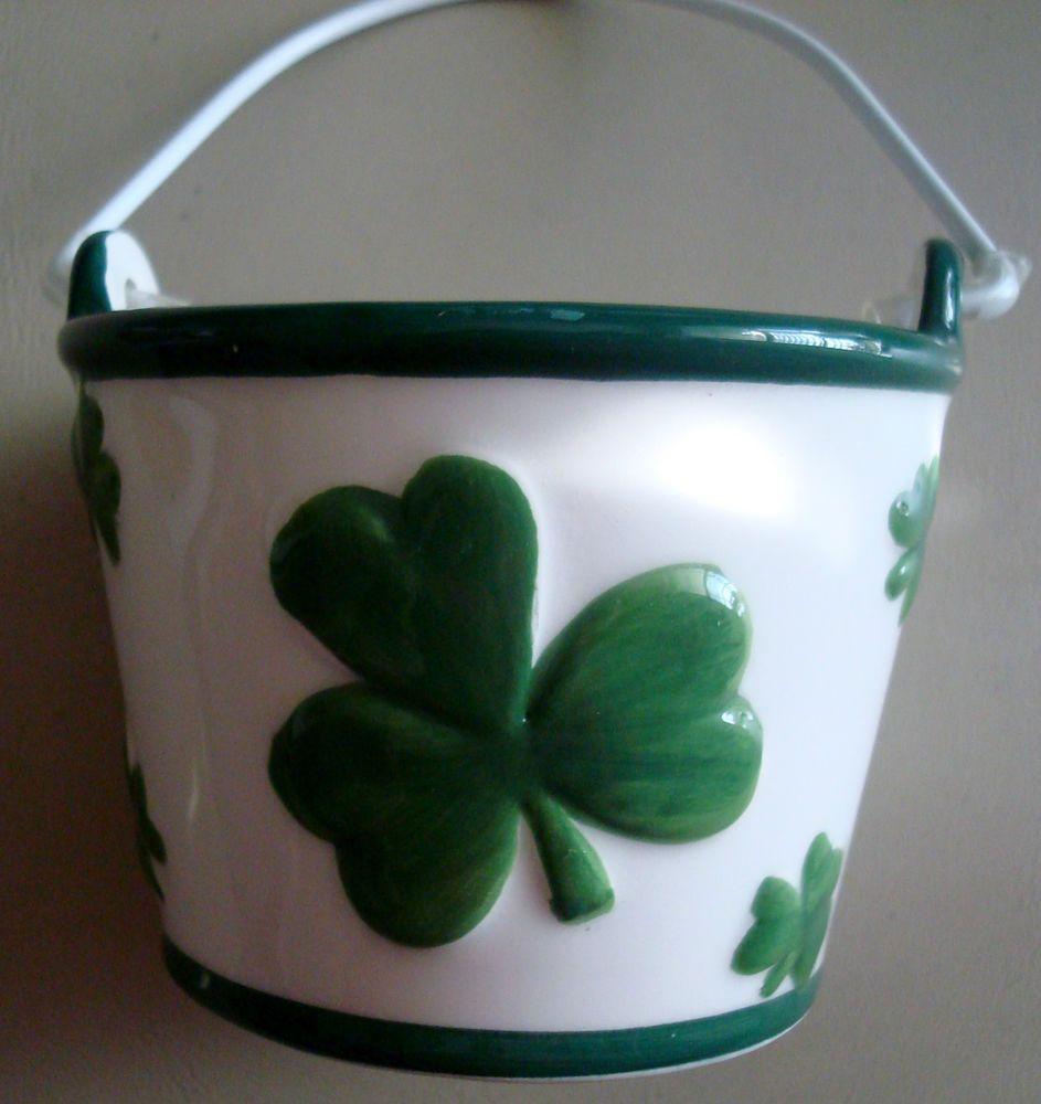 Latest Homedecor Ideas: St. Patrick S Day Potholder, 2 Coasters & Small Ceramic