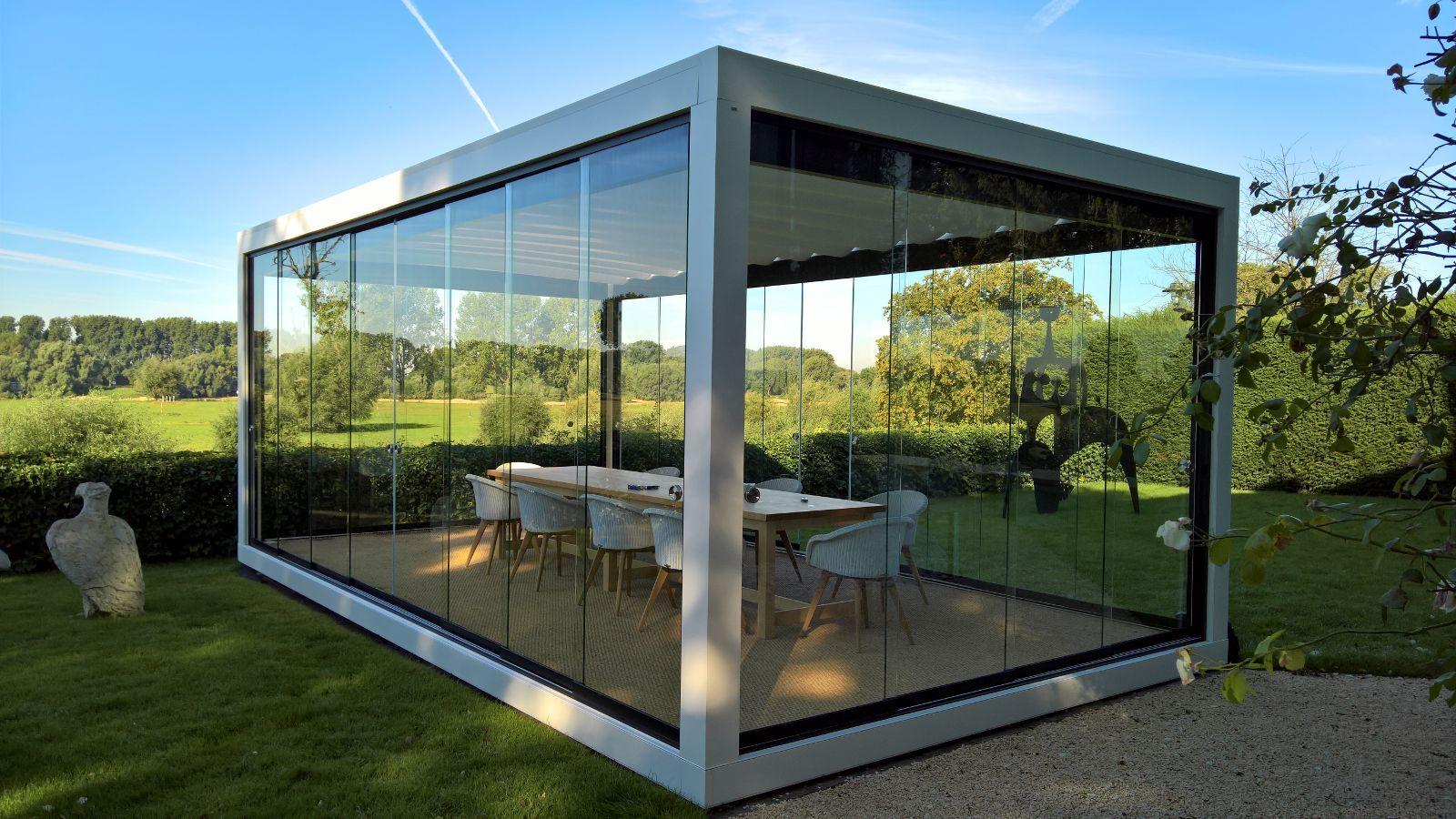 Pergola Metall Freistehend ~ Terrassenüberdachung melano freistehend glashaus pergola garten