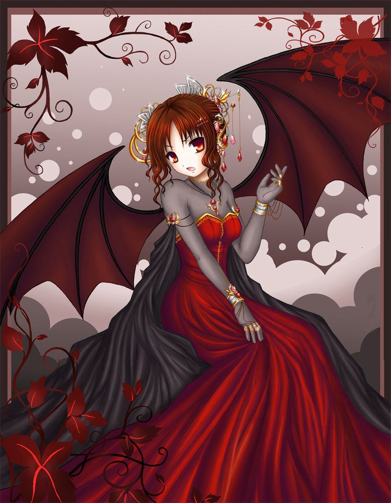 Anime Vampire Girl With Red Hair : anime, vampire, Anime