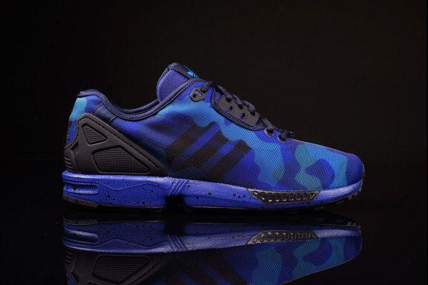Adidas Originals zx flux decon camo pack in blue #sneaker