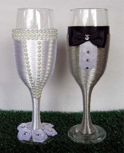 """Taças """"vestidas"""" para o brinde dos noivos: tá na moda ou é cringe? 2"""