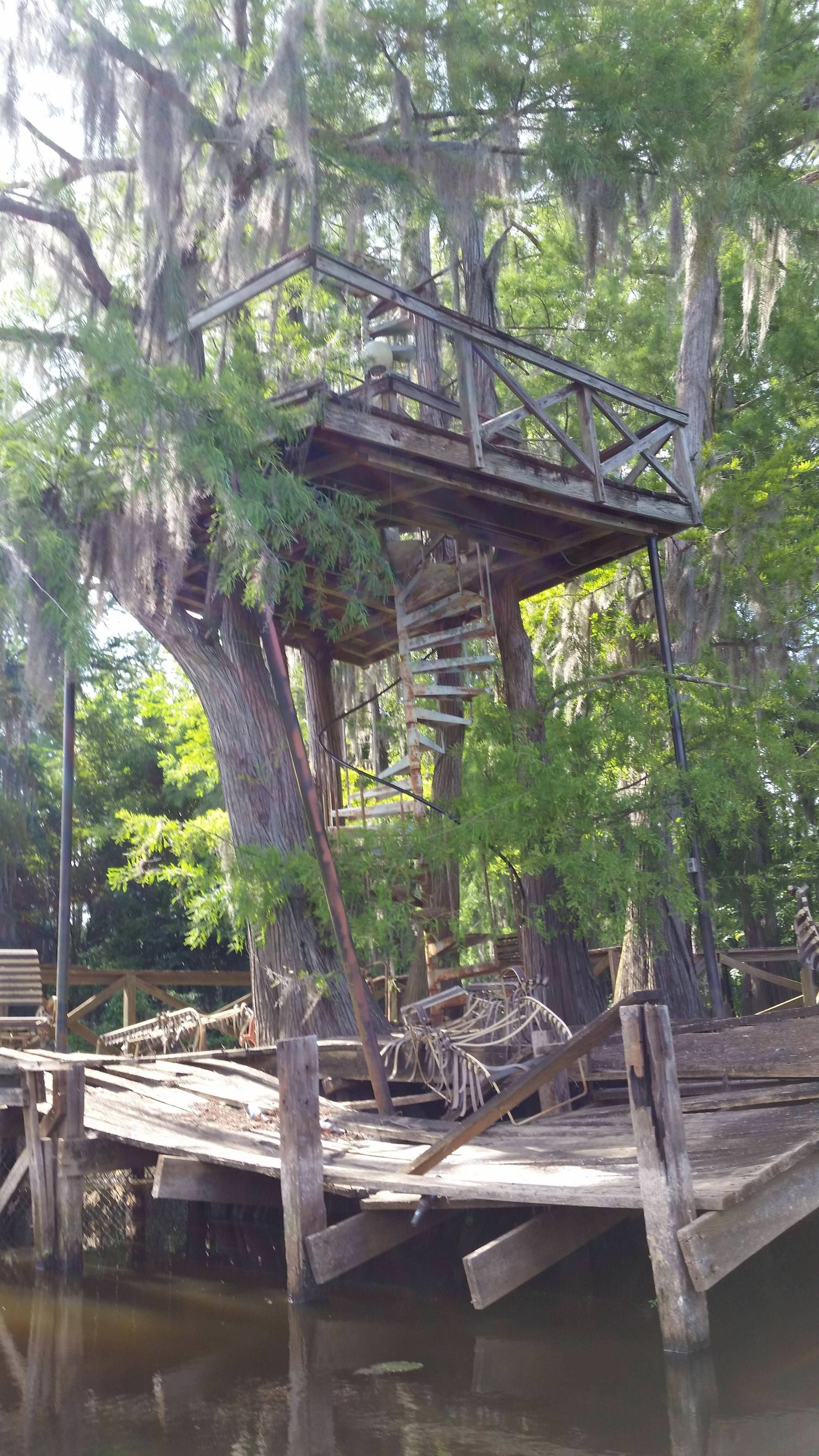 This Was Once An Elevated Deck Overlooking Big Cypress Bayou
