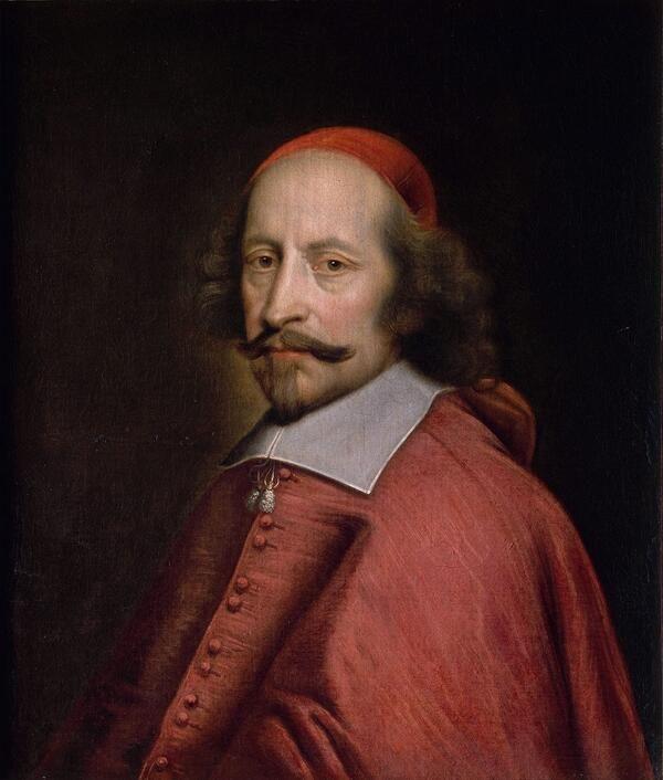 Le cardinal Mazarin (1661)  Jules Mignard (1612-1695)  Musée Condé (Chantilly)
