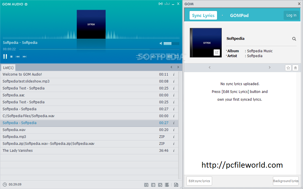 GOM Audio v2 2 10 0 Music Player Free Download - pcfileworld com