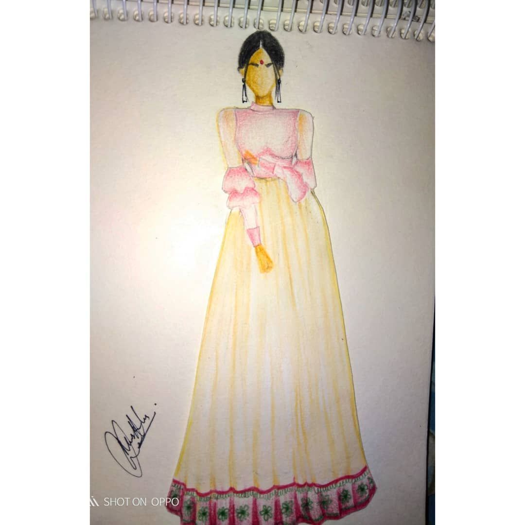 HAPPY CHOTI DIWALI TO YOU ALL... THIS IS OUTFIT OF THE DIWALI DAY 2 you guys can checkout the actual outfit on my personal account in the evening. ...... Till then comment below do you like these diwali vibes. .. . #diwali #ootd #diwalifeels #diwalivibes#fashion#fashionillustrations #fashionsketch #fashionart#illustrationartists #illustration #illustrationgram #instagram #artislife #artist #artistsoninstagram #humanfiguresketch #humanillustration #humanfigures #celebrityillustration #celebart #h