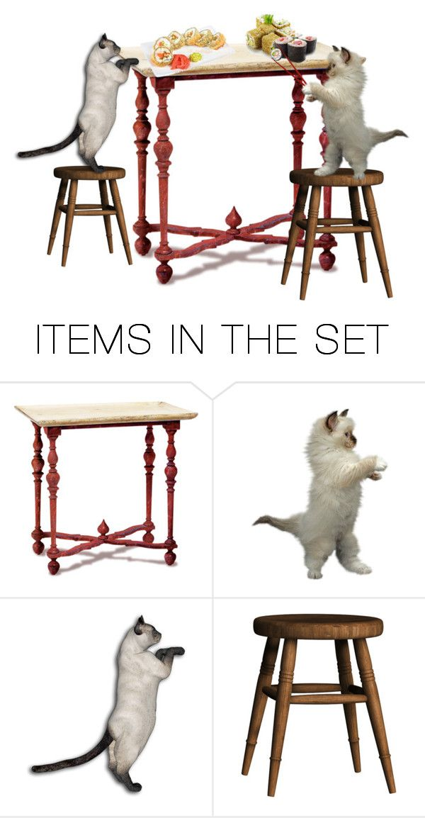 """Sushi thief"" by carbarks ❤ liked on Polyvore featuring art"