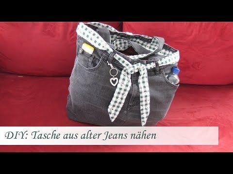 diy einfache tasche n hen aus einer alten jeans f r n hanf nger youtube selbstgemachtes. Black Bedroom Furniture Sets. Home Design Ideas