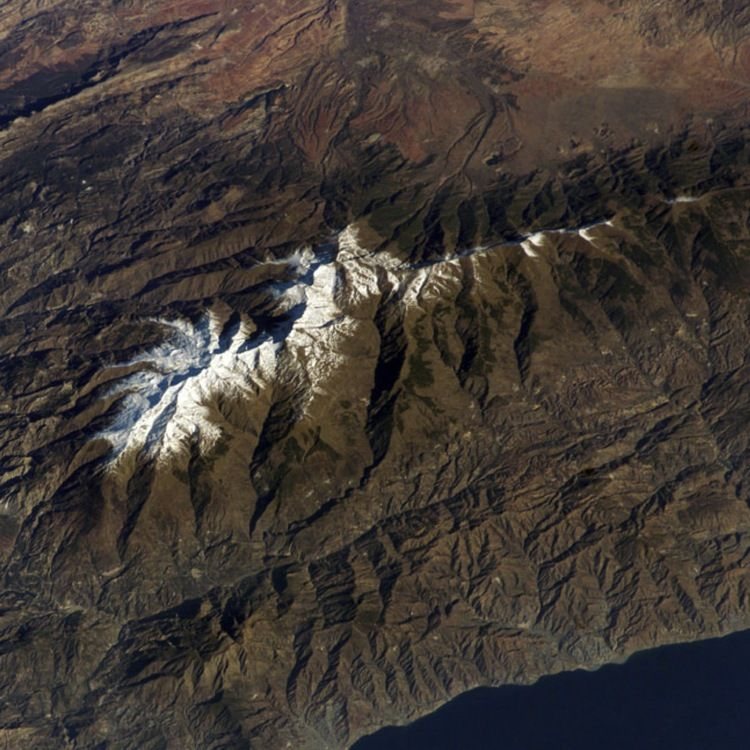 Spain's Sierra Nevada mountain range (Astronaut photograph ISS012-E-11144, NASA).