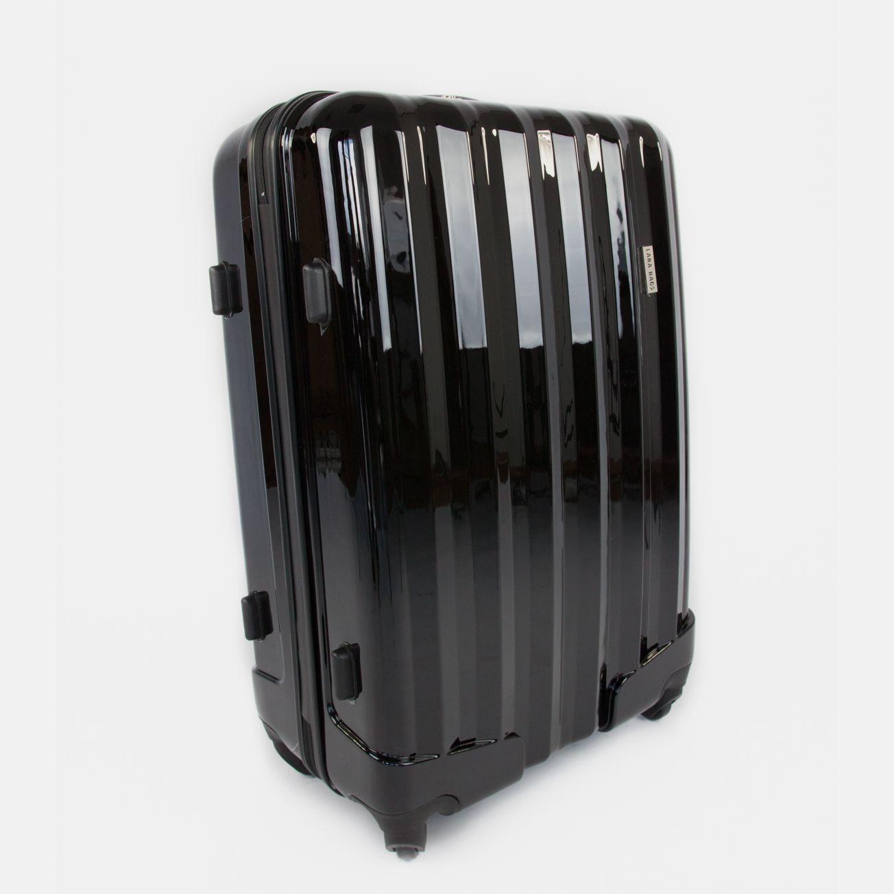 71335b69fb901 Čierny cestovný kufor plastový veľký | Kufre a cestovné tašky ...