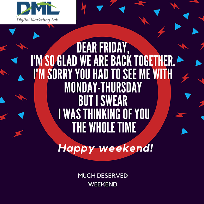 Finally! the week has come to an end & here comes the #muchawaitedweekend!. work hard, party harder!