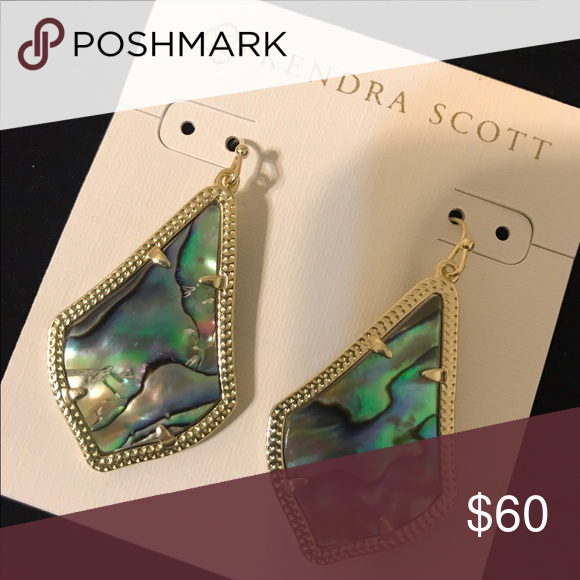 Alex Earrings Abalone shell set in gold earrings Kendra Scott Jewelry Earrings