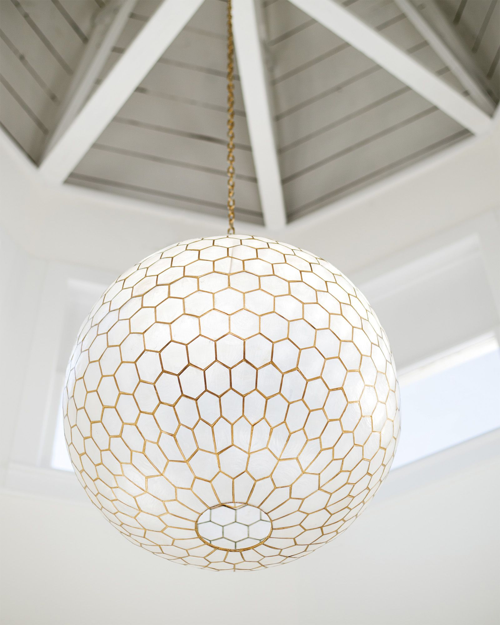 capiz honeycomb chandelier capiz