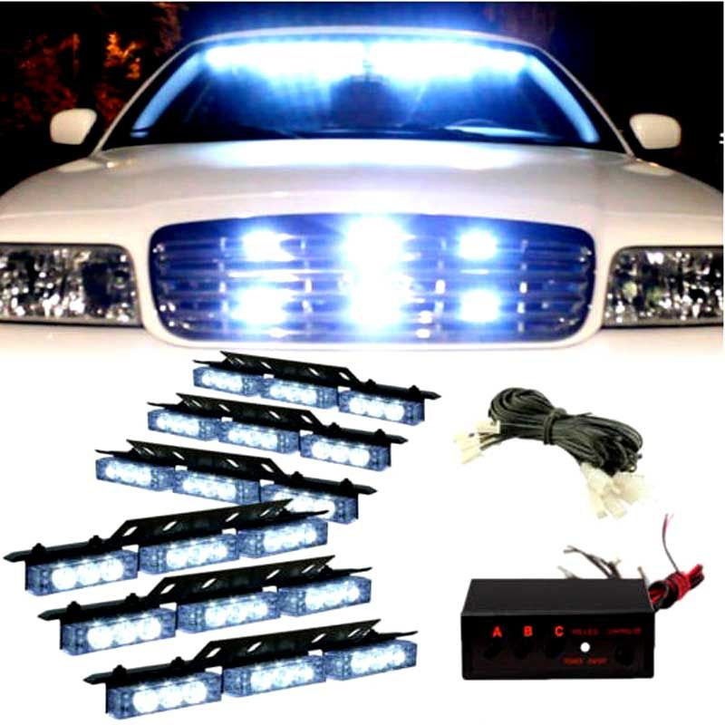 Hot 54led red blue white green amber cars truck led flash strobe 54led red blue white green amber cars truck led flash strobe lights 12v car aloadofball Image collections