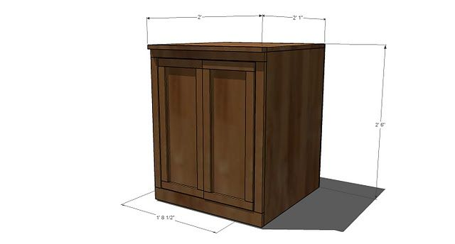 Ana White | Build a Classic Storage Wall Side Base Units | Free and Easy DIY Project and Furniture Plans