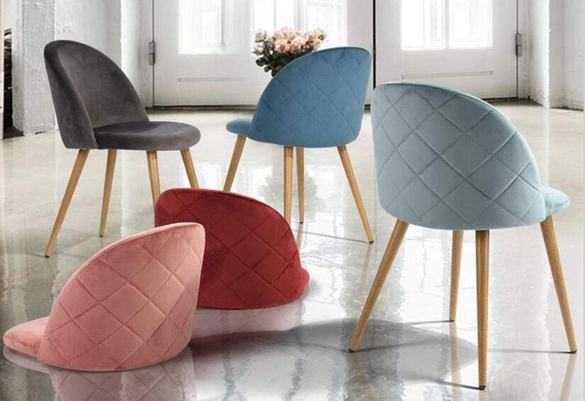 Sedie In Metallo Per Cucina : Coavas sedie per il pranzo sedie e schienale imbottiti in velluto