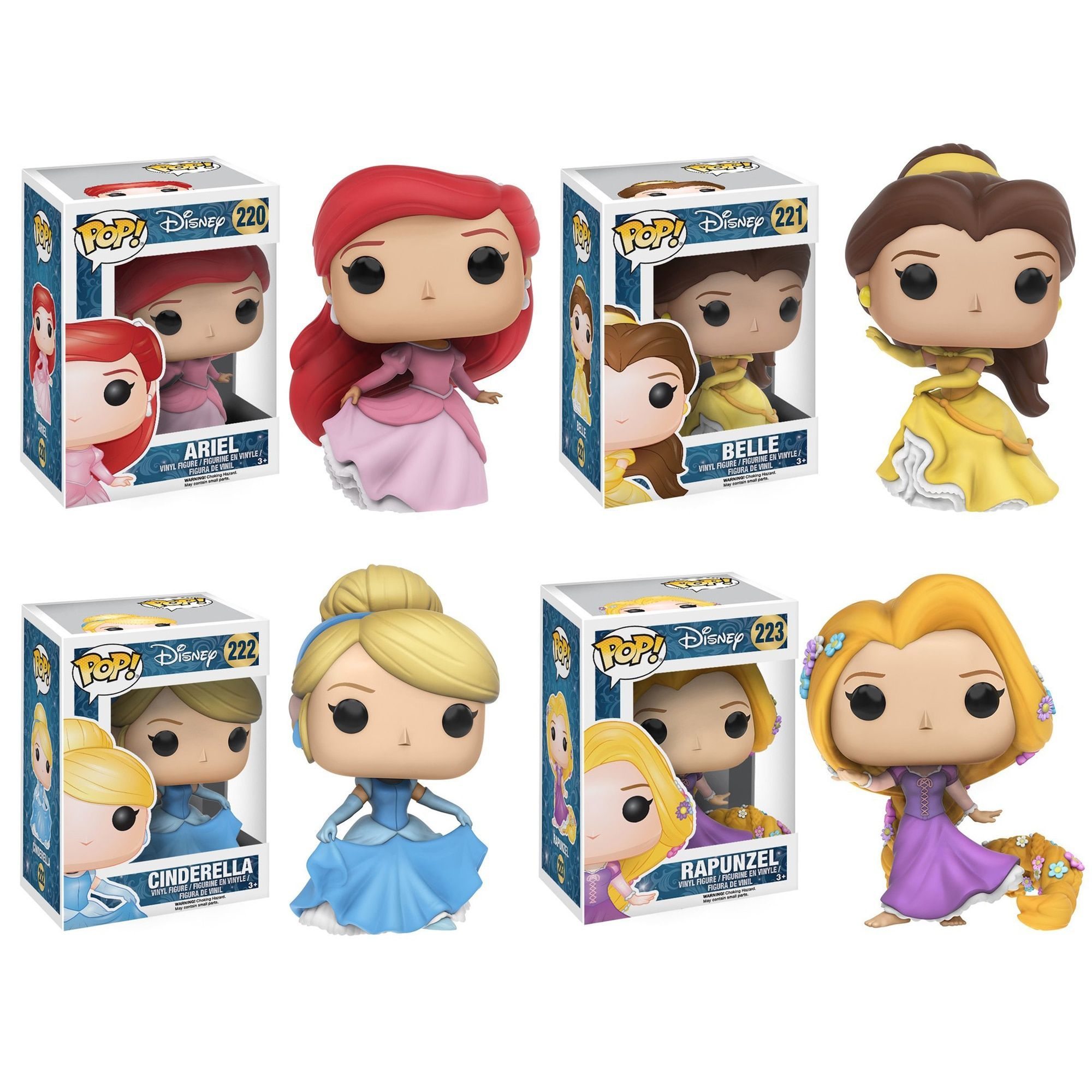 Funko Disney Pop Princess Ariel Belle Cinderella And Rapunzel