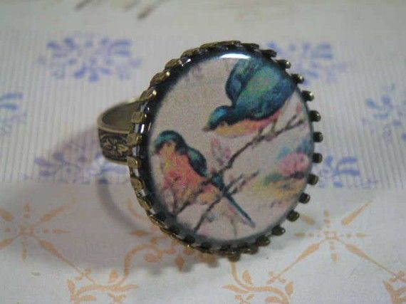 OMG I want this Blue bird ring.