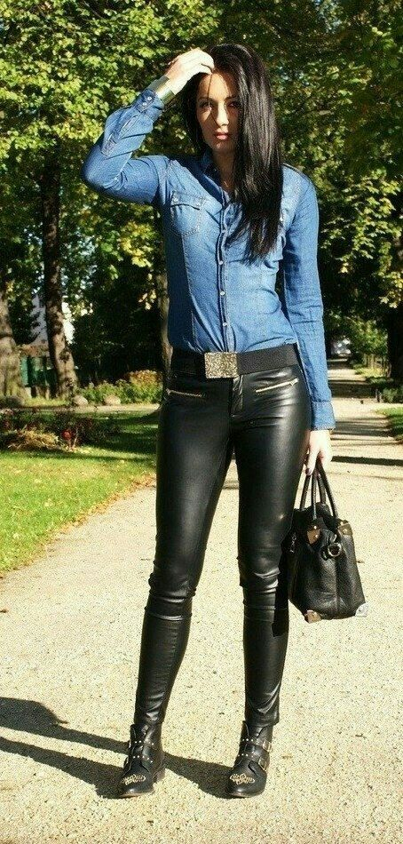 pin auf leggings and leather trousers. Black Bedroom Furniture Sets. Home Design Ideas