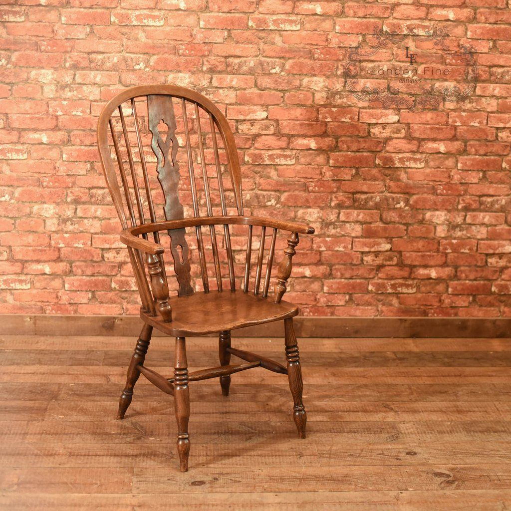 This is an antique Windsor, stick back chair dating to the mid Victorian  era, - This Is An Antique Windsor, Stick Back Chair Dating To The Mid