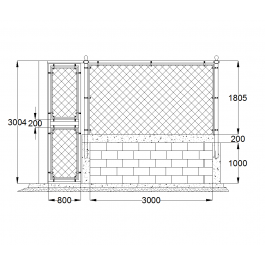 Mesh fence and gate detail | Architectural CAD blocks | Cad