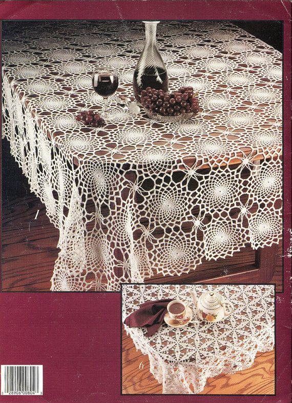 Cotton Thread Crochet Pattern Book Motif Tablecloths 8 Designs