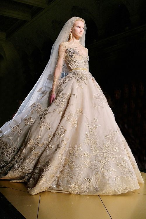 lamb & blonde: Wedding Wednesday: Elie Saab AW 2012 Couture
