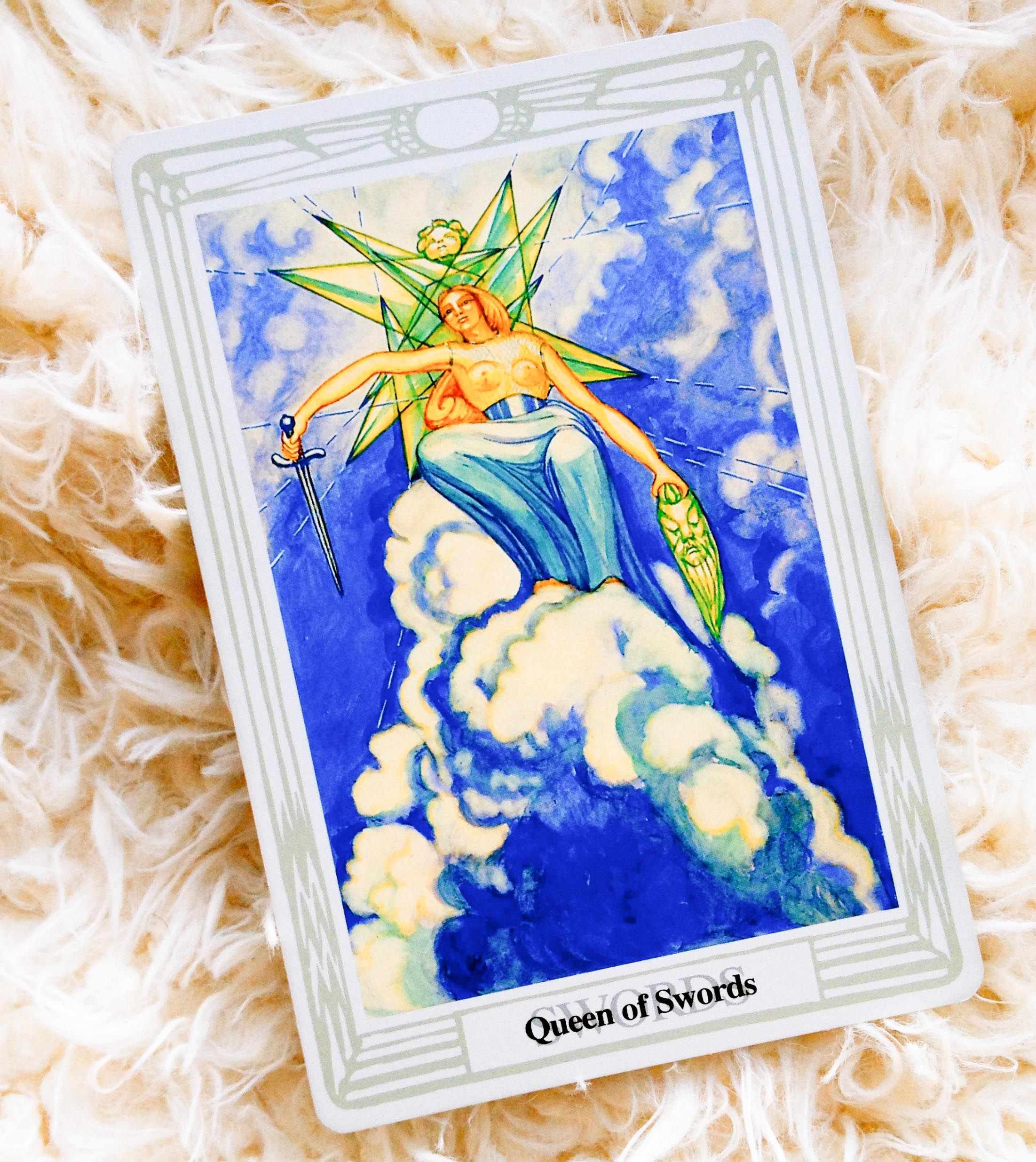 Thoth-Queen-Swords, all court cards | ***Court Cards: Swords