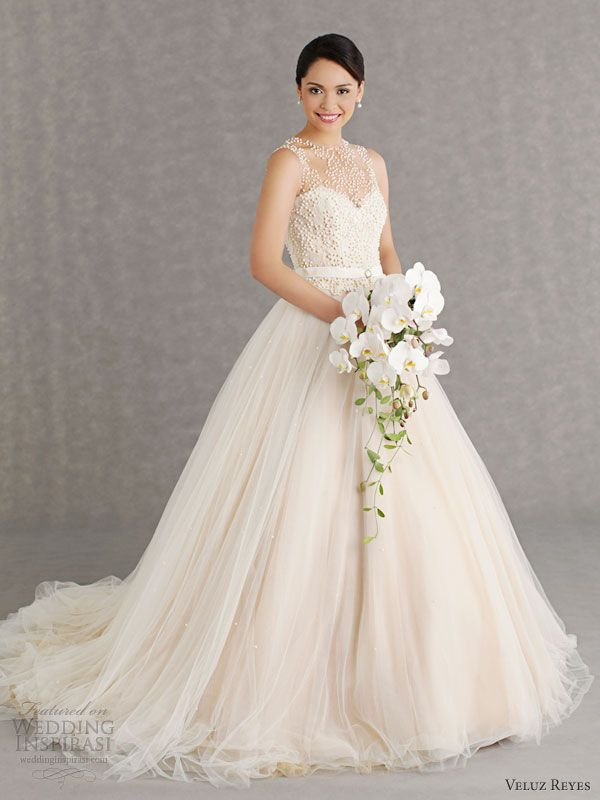 17 Best images about Gowns on Pinterest | Illusion neckline, Tulle ...
