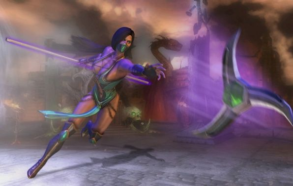 Jade Mortal Kombat Weapon Wallpaper Mortal Kombat Jade Art Girl