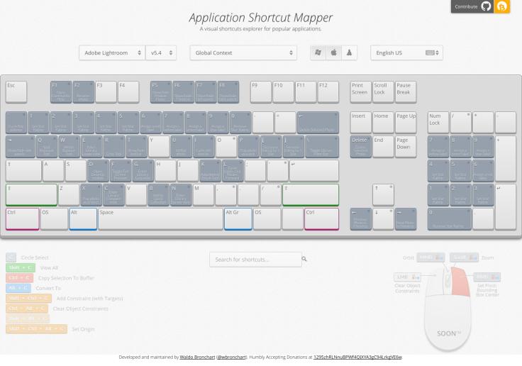 ShortcutMapper Keyboard Shortcuts for Popular Apps