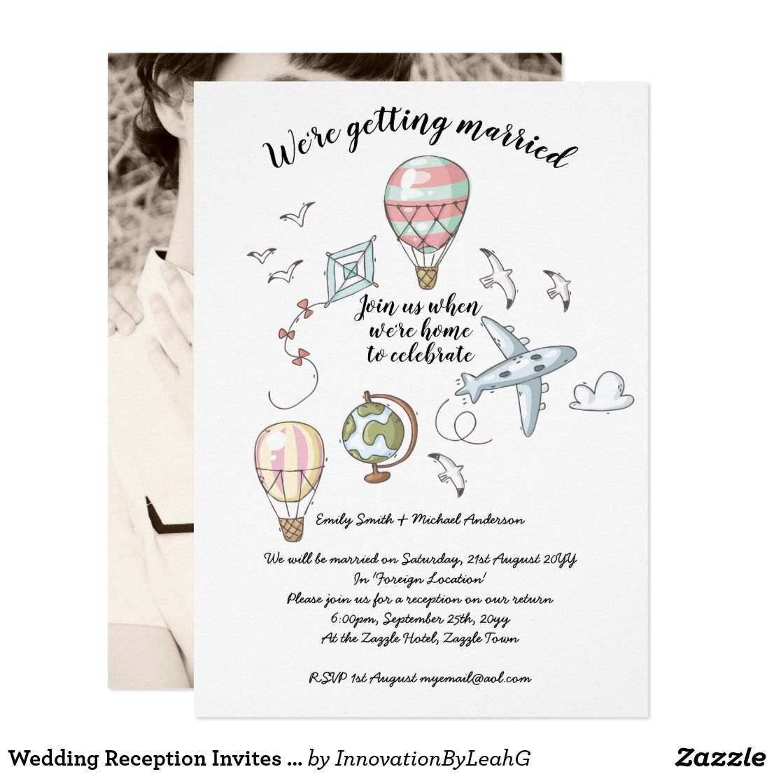 Reception Following Ceremony Wording: Wedding Reception Invites - Following Elopement