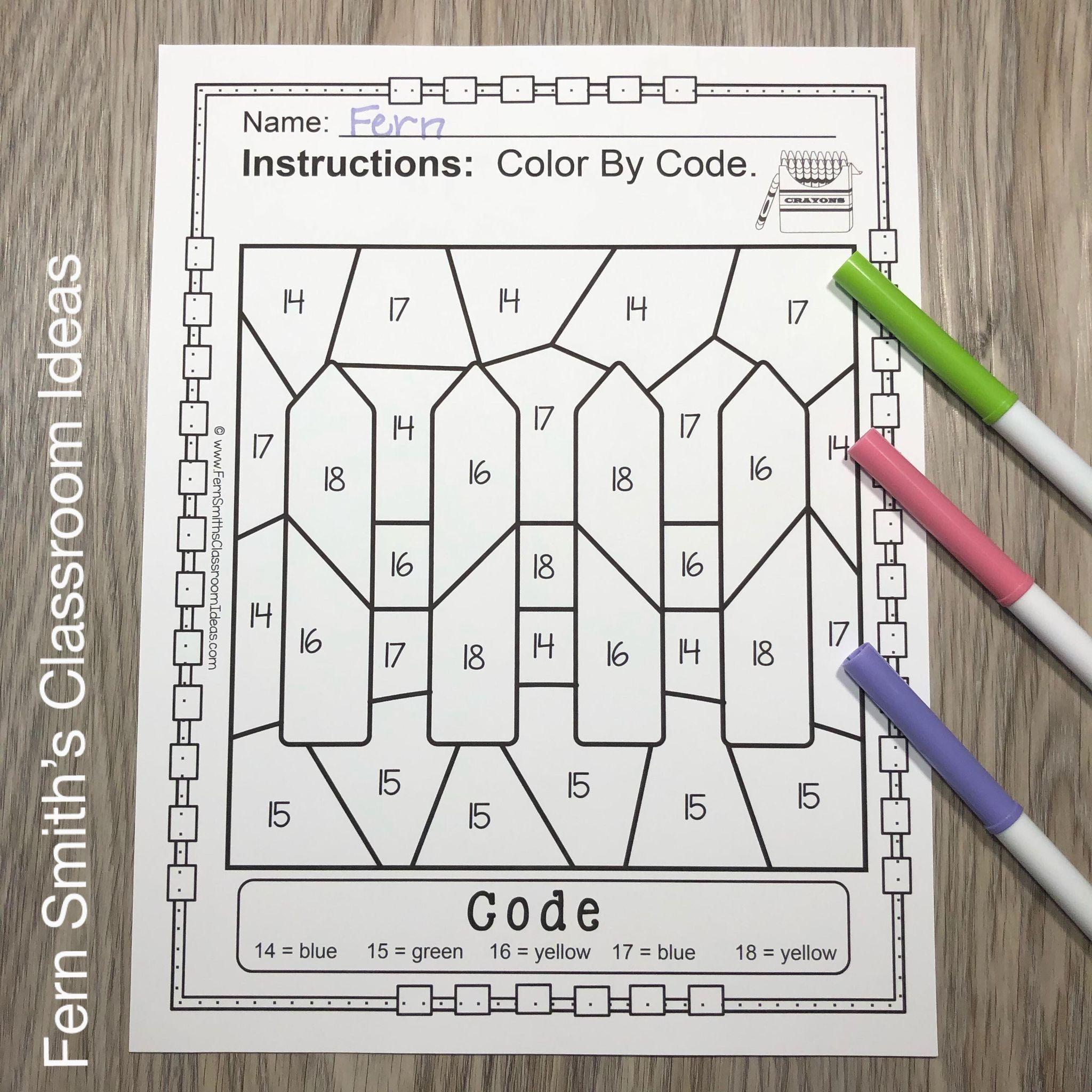 Fern S Freebie Friday Color By Code 3 D Shapes Baa Baa Black Sheep Remediation Worksheet Fern Smith S Classroom Ideas After School Tutoring Kindergarten Skills [ 2048 x 2048 Pixel ]