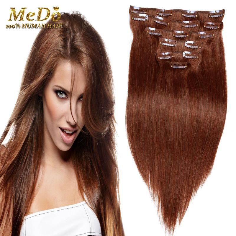 Hot Selling 7a Brazilian Virgin Hair Straight Clip In Hair