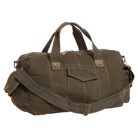 Solid Canvas Green Duffle by Bed Stu