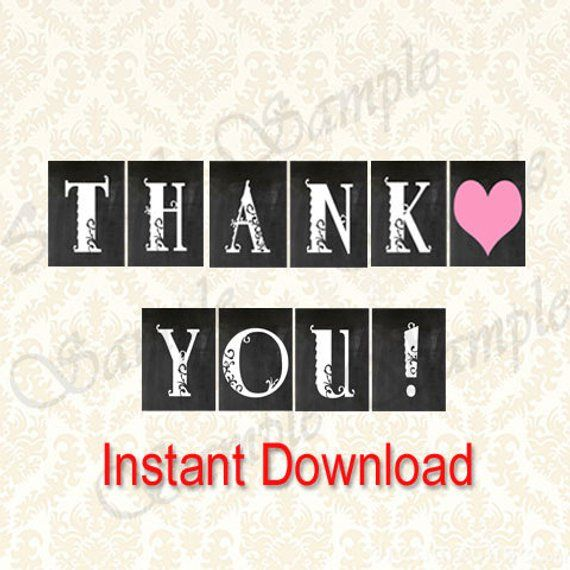 photo about Thank You Banner Printable called Thank On your own Banner, Printable Choose Desk Banners, Present Desk