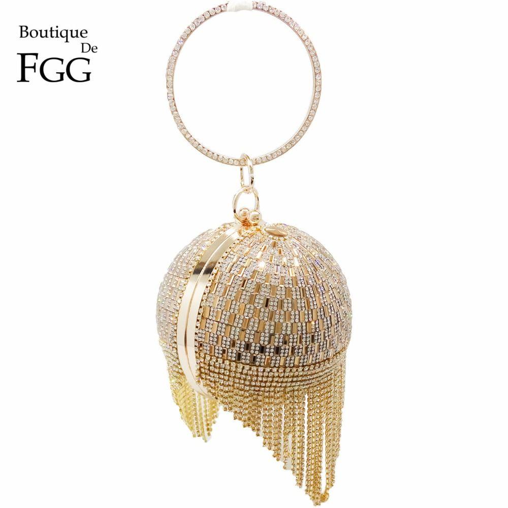 45.56 - Nice Golden Diamond Tassel Women Party Metal Crystal Clutches  Evening Bags Wedding Bag Bridal Shoulder Handbag Wristlets Clutch Purse -  Buy it Now! 67a90c575cd1