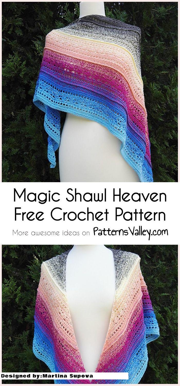 Magic Shawl Heaven [Free Crochet Pattern] #crochet #shawl ...