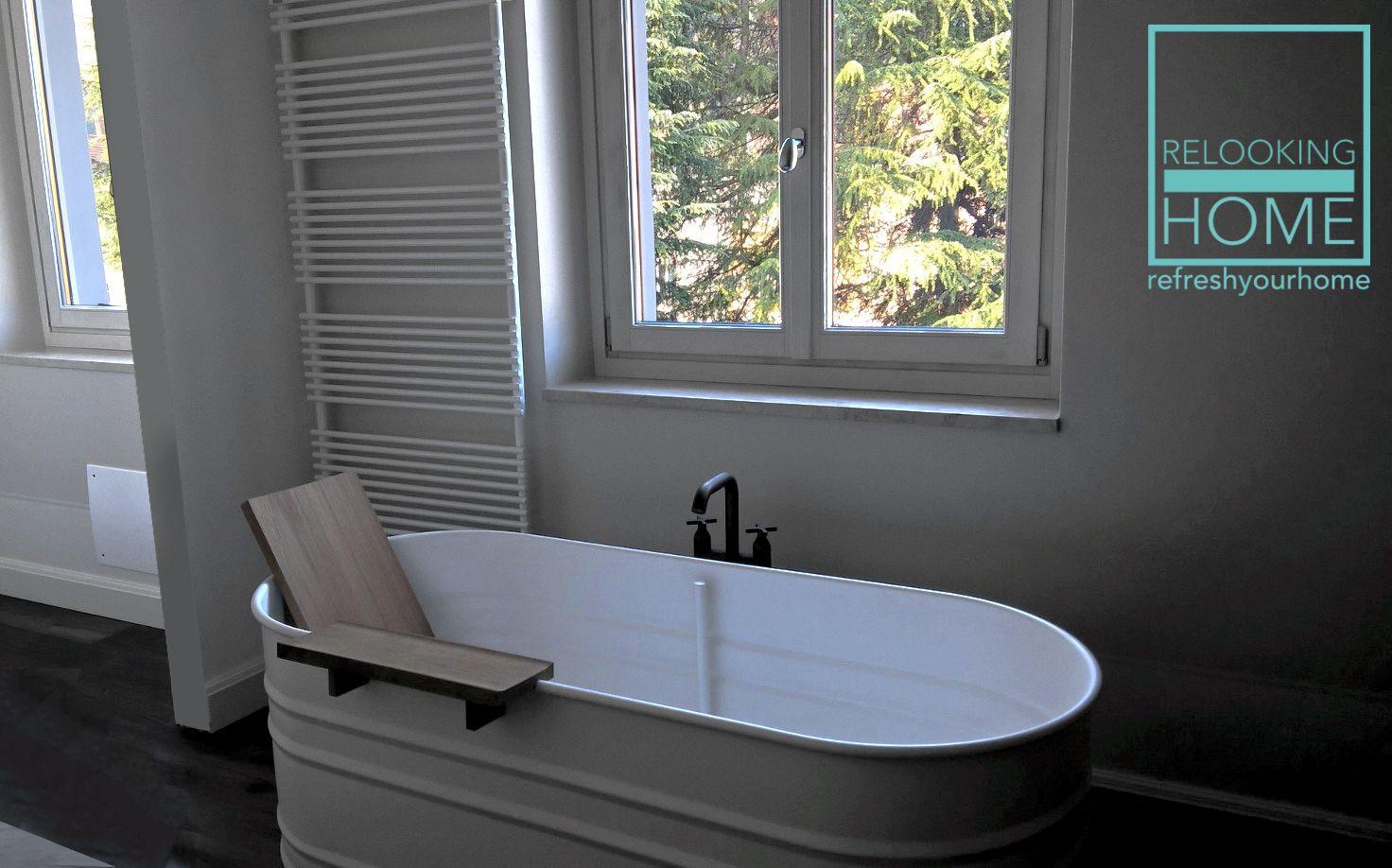 Vasche Da Bagno D Epoca : Alloggio depoca: vasca da bagno nella sua modernità in sintonia