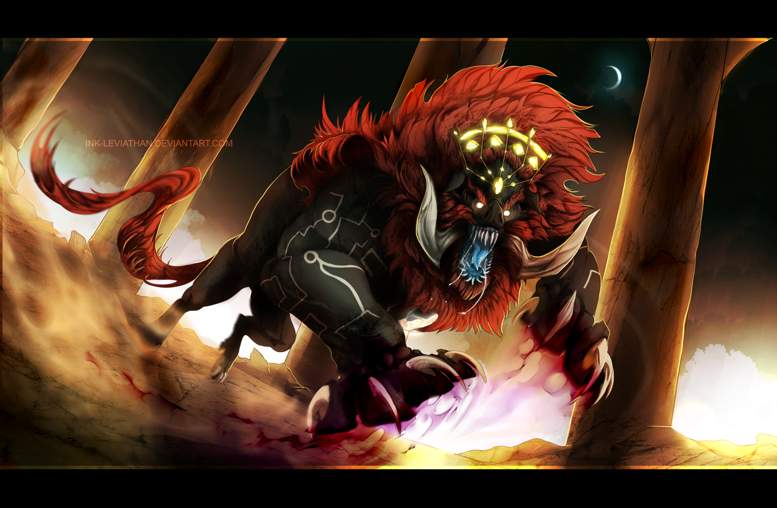 Legend Of Zelda Beast Ganon By Ink Leviathan Deviantart Com