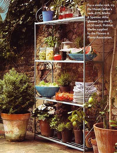 Inspiration Baker S Rack As Outdoor Furniture With Images