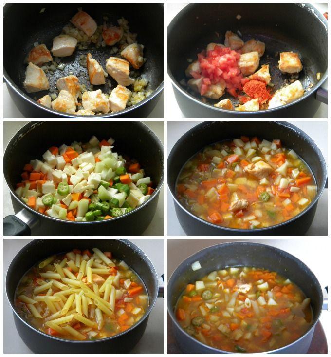 Sopa De Frango Com Legumes Versao Saudavel Receita Sopas De