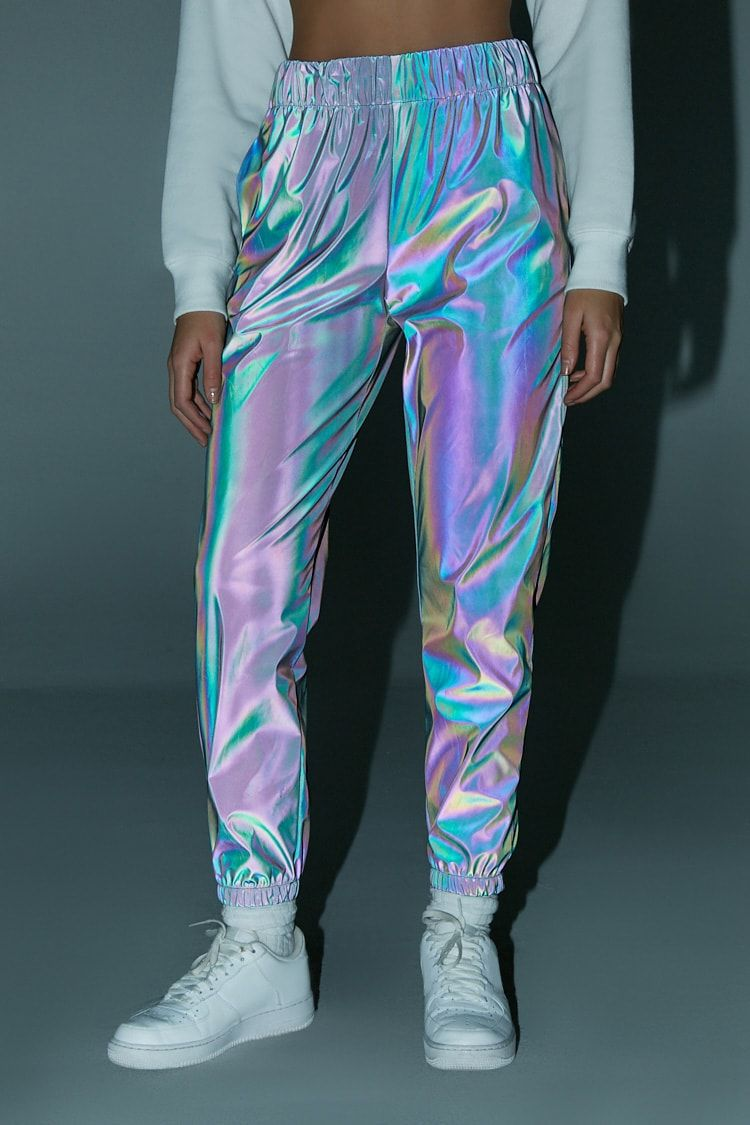 561bd58bace Reflective Iridescent Joggers in 2019